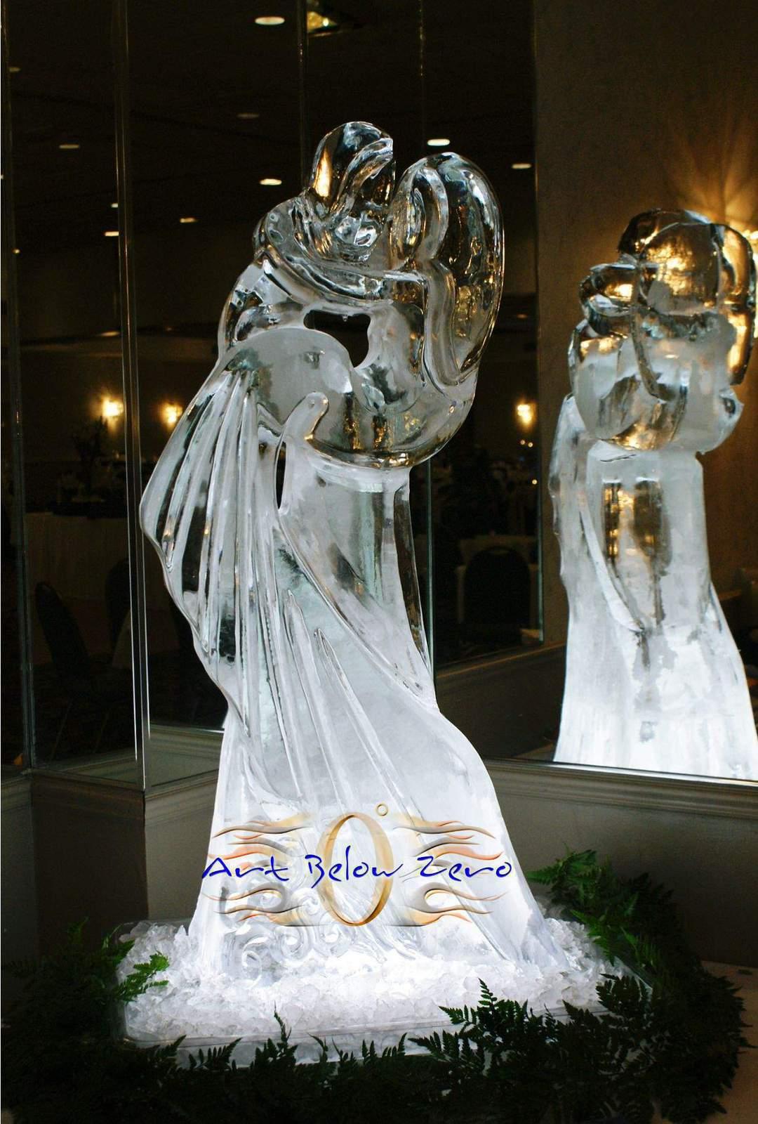 wedding ice sculptures by art below zero