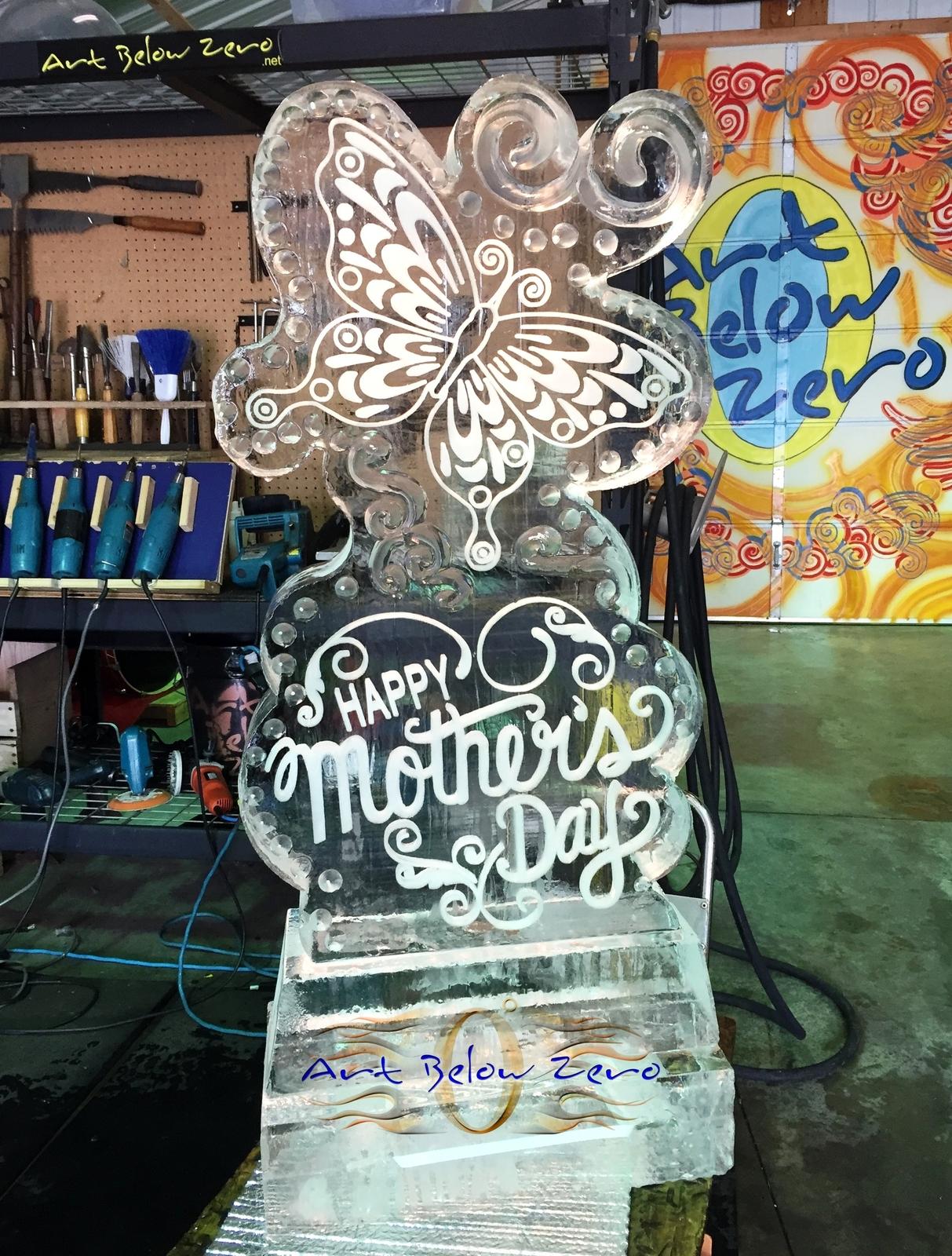 Mothers day ice sculptures by art below zero