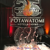 Thumb_potawatomi_hotel___casino_25th_anniversary_logo_with_flame_in_color_and_3d_ice_sculpture