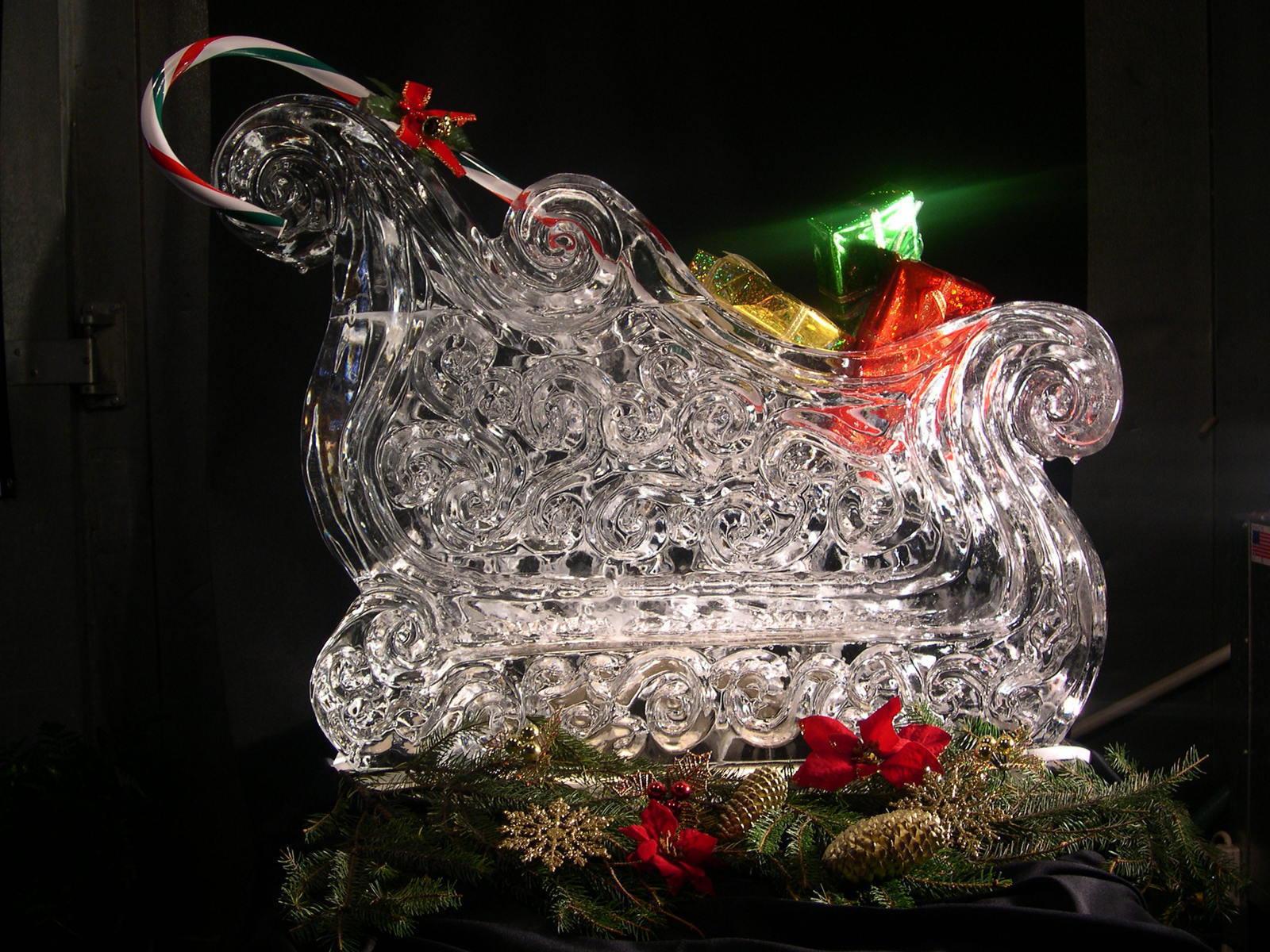Christmas Sleigh Centerpieces