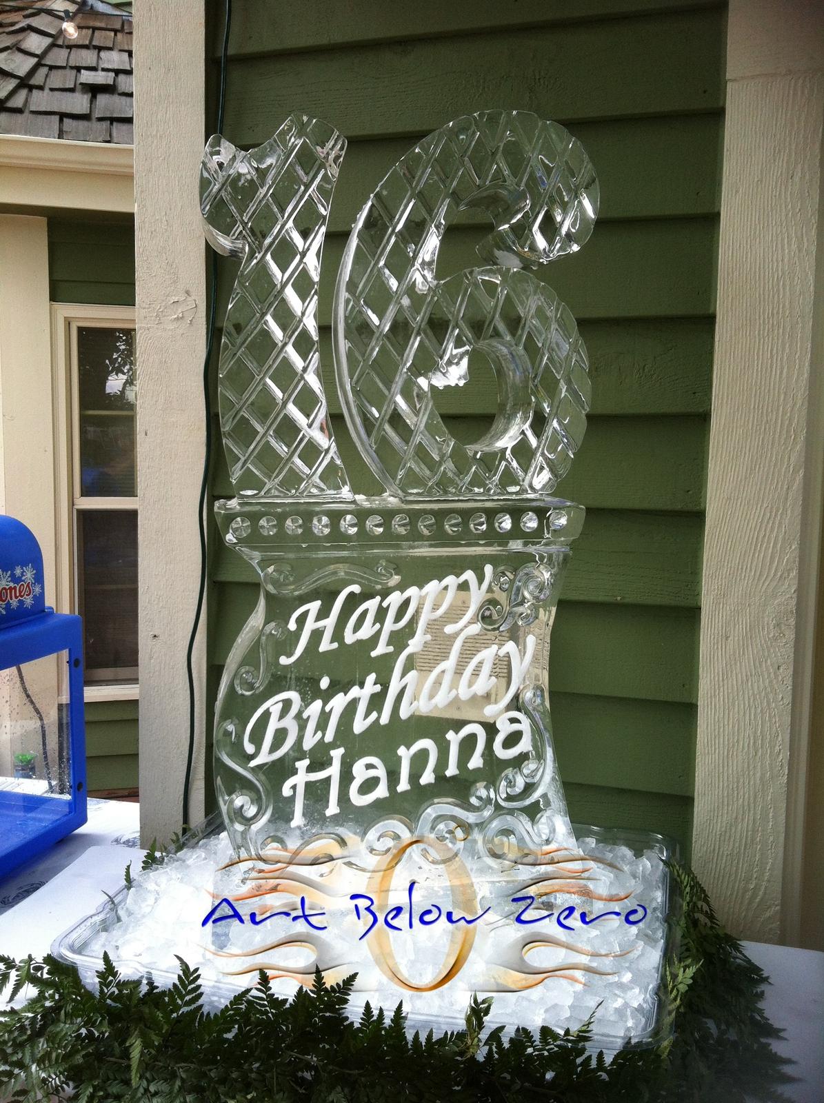 Birthdays anniversary ice sculptures by art below zero