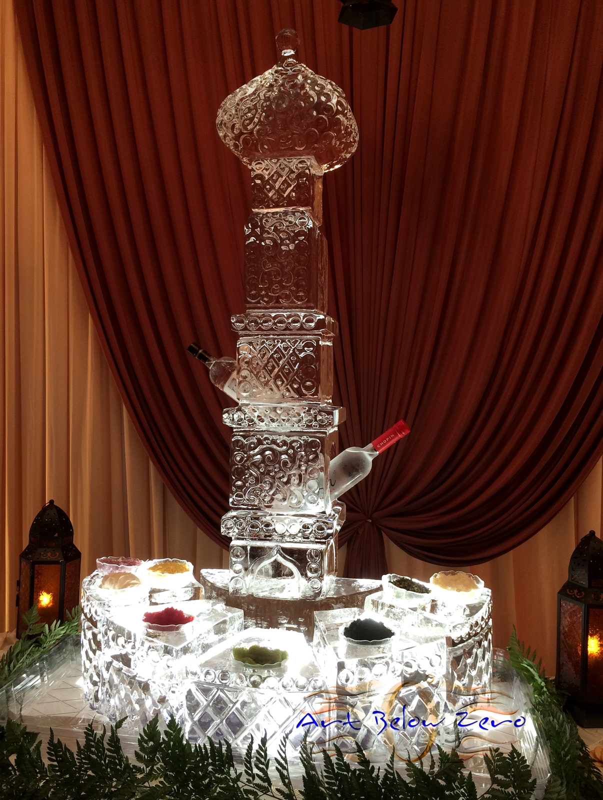 Arabian_nights_theme__caviar_station_ice_sculpture