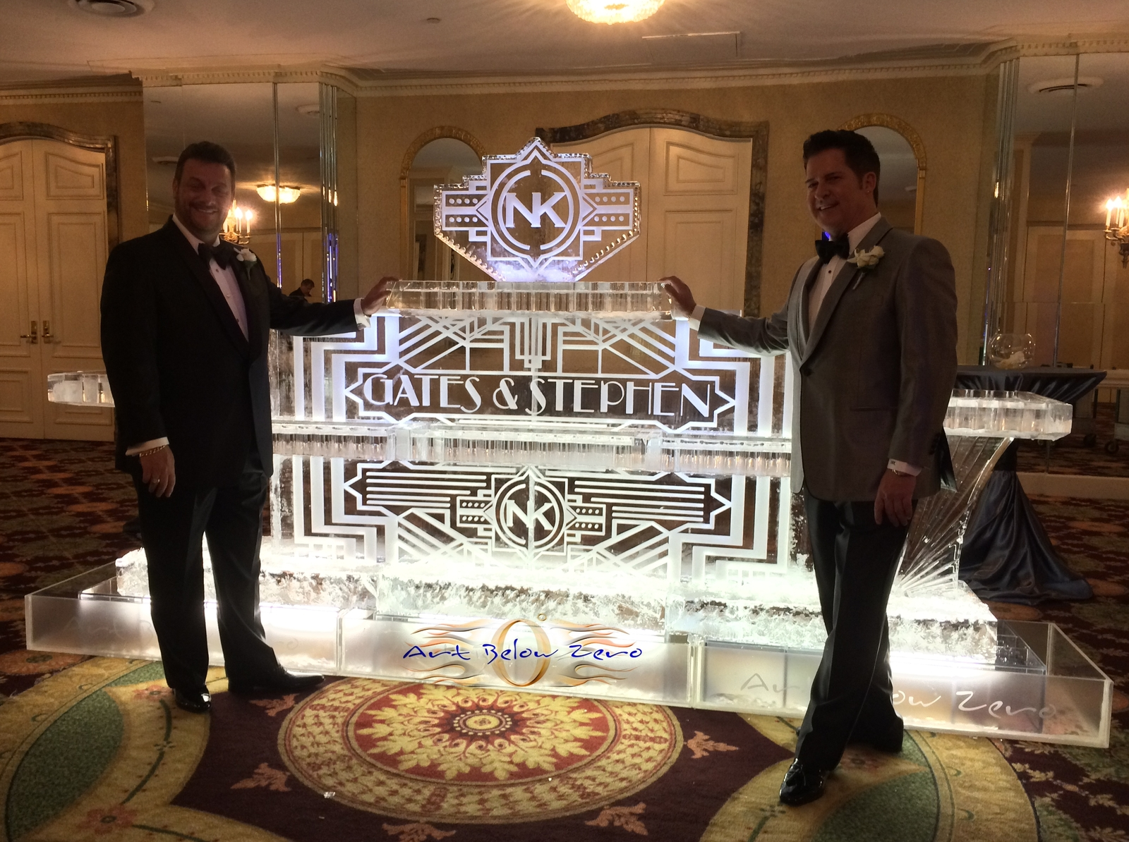 Art_deco_seafood_table_for_gates_and_stephen_ice_sculpture