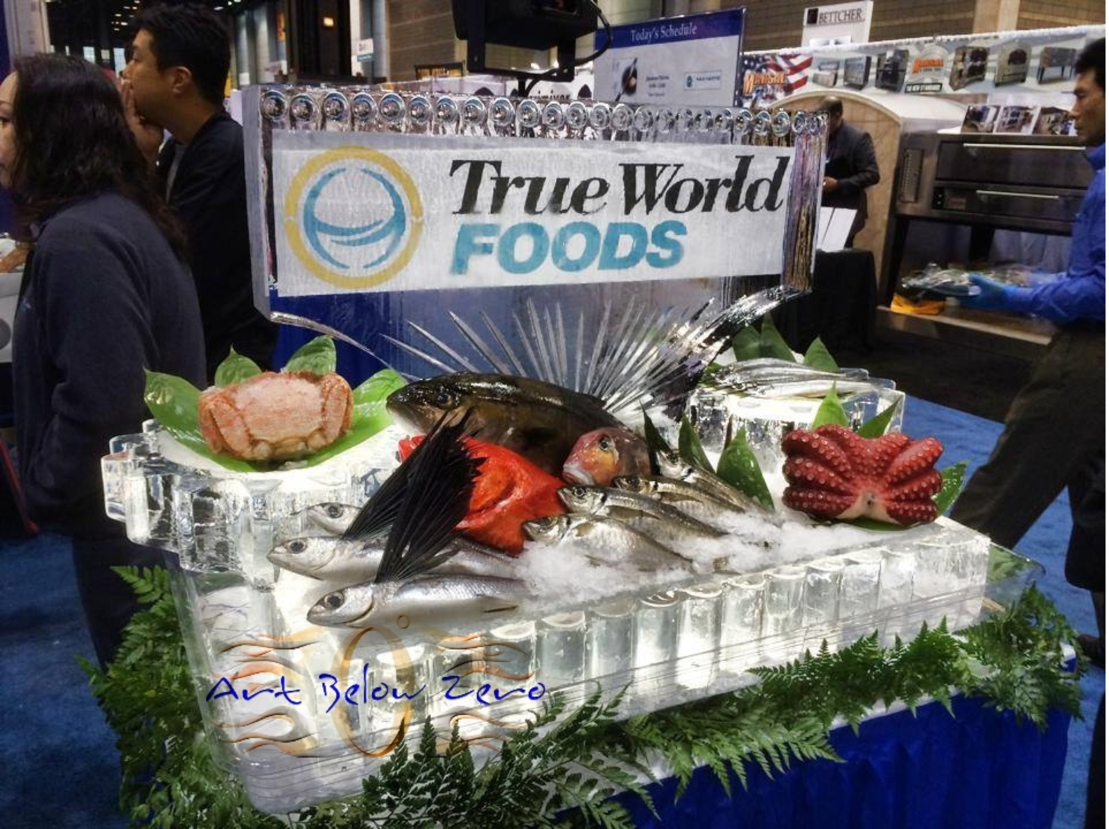 True_world_foods_seafood_display_at_the_nra_show_2014